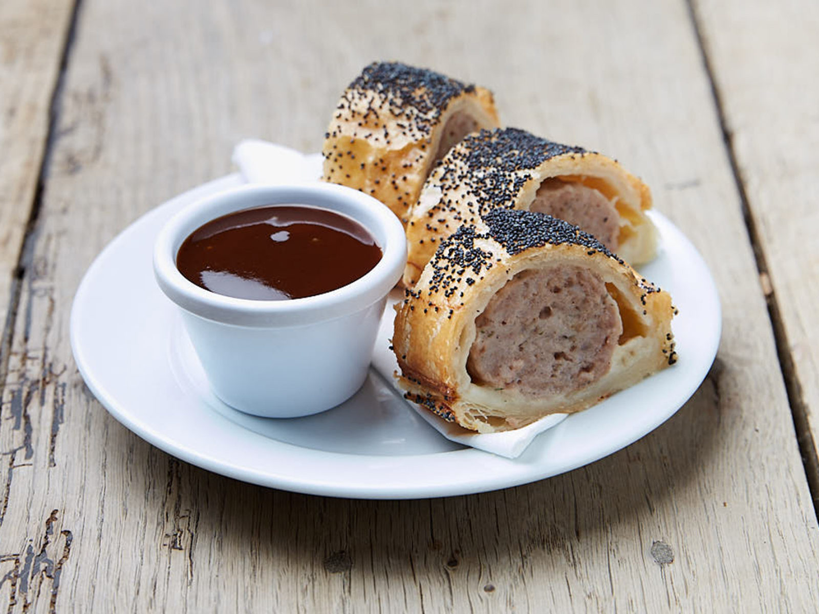 Just want a little snack? Why not try our sausage rolls.