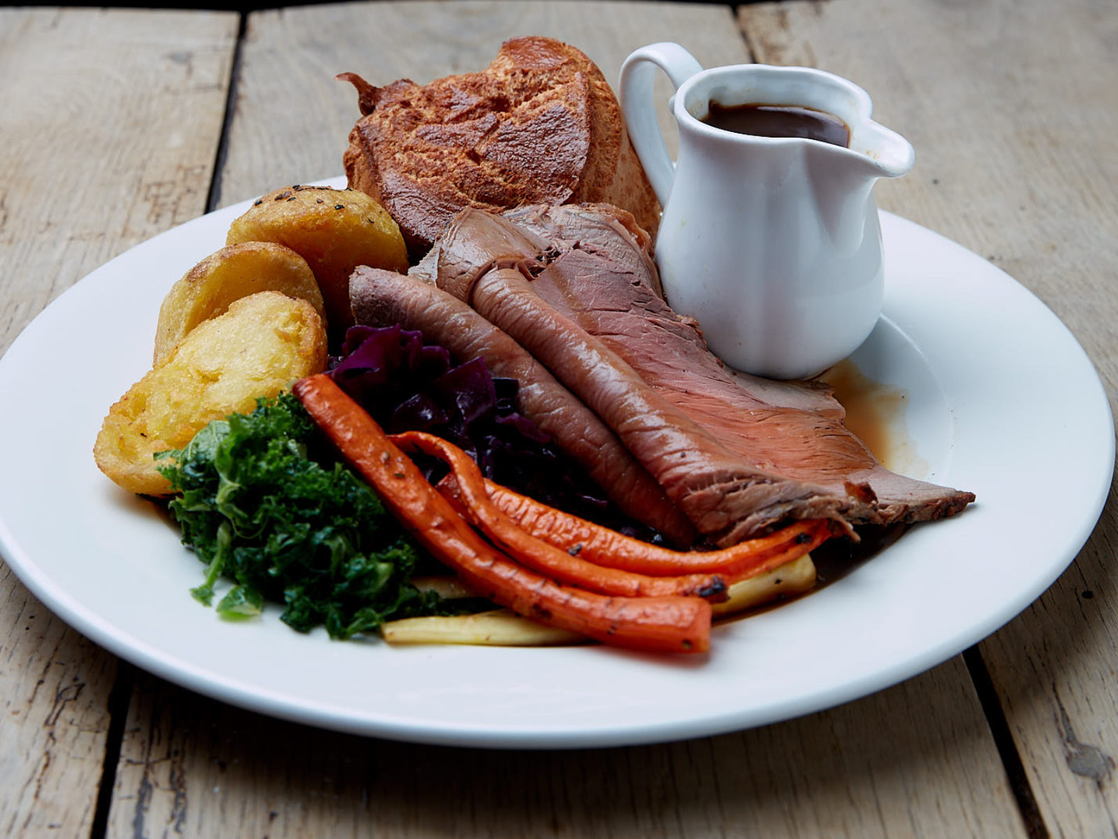 We don't like to boast but our beef roast is simply delicious.