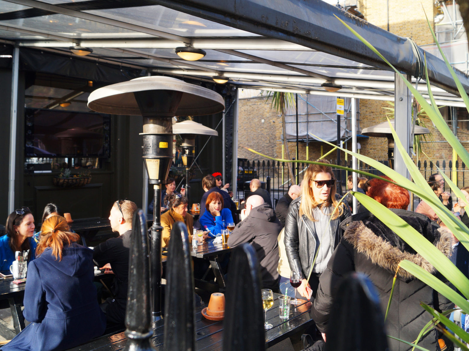 Wether it's the height of summer of just a spring day with our space heaters you can always enjoy the beer garden to the max